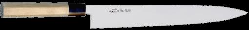 TO-SU-300, Sujibiki Knife – nóż Sujibiki, ostrze 300mm Lekki japoński nóż do krojenia, zaostrzony z obu stron w charakterystyczną krawędź MAC, pozwalającą na lepszą kontrolę podczas krojenia.