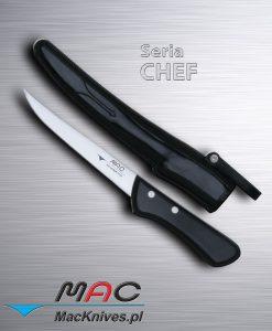 Fishing Fillet Knife – noż do filetowania. Ostrze 160 mm Cienki i bardzo ostry nóż do ryb z laminowanym drewnianym uchwytem. Idealny do usuwania kości z kurczaka jak również wieprzowiny. Zawiera gumową pochwę dla bezpieczeństwa i ochrony noża.