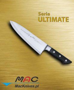 Cleaver Knife – tasak. Mocny podwójnie skośny tasak z krawędzią MAC, idealny do czyszczenia oraz rozcinania ryb i drobiu. Ostrze 215 mm