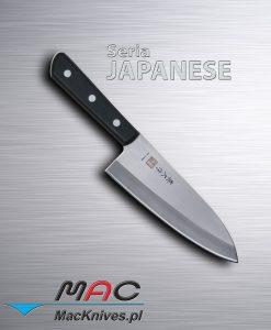 Japanese Deba Cleaver Knife – japoński tasak Deba. Ciężki tasak do cięcia ryb i kości. Ostrze 185 mm.