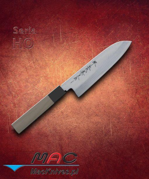 Santoku Knife – nóż Santoku. Uniwersalny nóż Santoku o krawędzi V. Krawędź z obu stron wzmocniona stalą niskowęglową. Ostrze 180 mm