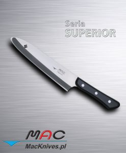 Uniwersalny nóż kuchenny do cięcia i krojenia, z bezpiecznym końcem ostrza. Ostrze 205 mm